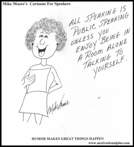 public speaking cartoon